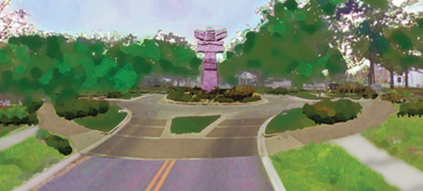 Illustrations of possible improvements to downtown Liberty Hill offered by the City of Liberty Hill to downtown property owners in earlier 2015. (Courtesy Graphics)